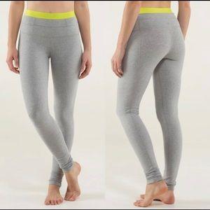 Lululemon Live natural pant legging grey size 4